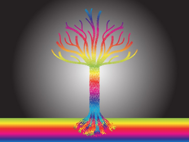 Rainbow Tree Vector