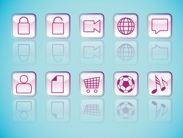 Glossy Square Icons