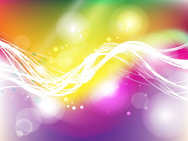 Rainbow Background Swirls