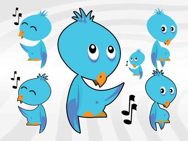Twitter Cartoon Birds