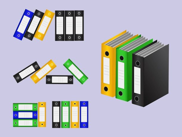 Office Binders Vectors