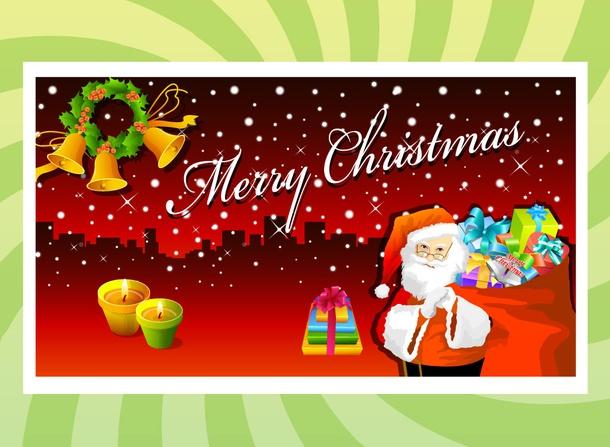 Beautiful christmas card for Christmas theme design