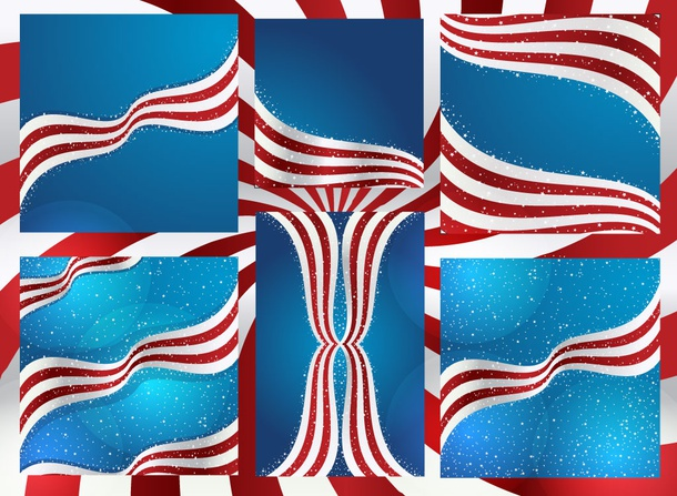 US Flag Backdrops