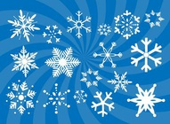 Snowflakes Vectors Set