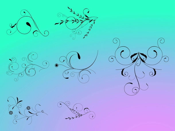 Swirling Floral Vectors