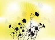 Beautiful Flowers Silhouettes