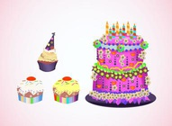 Colorful Party Cakes