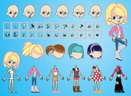 Girl Comic Vectors