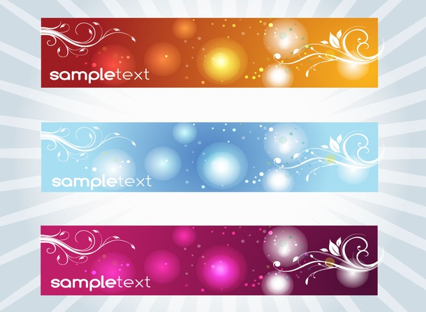 Free Decorative Header Vectors