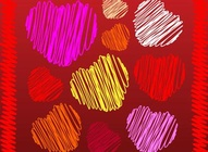 Heart Scribbles Pattern