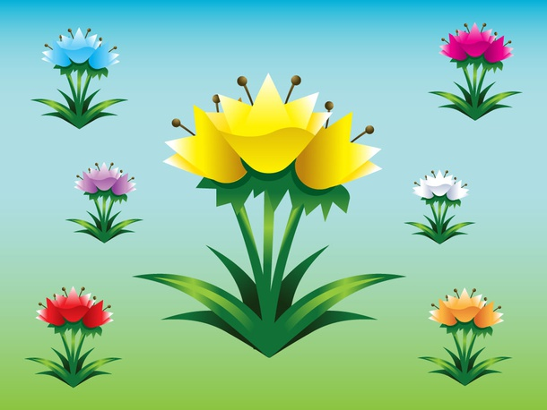 Tulips Vector Pack