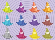 Colorful Witches Hats