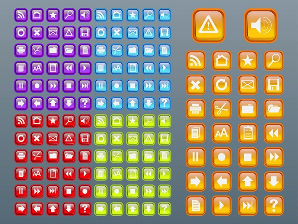 Shiny Square Icons