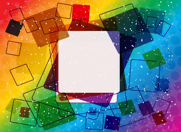 Rainbow Squares Background