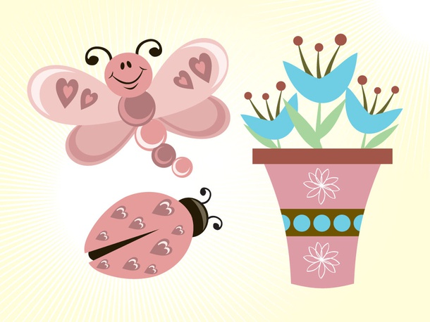 Butterfly Flowers Cartoons