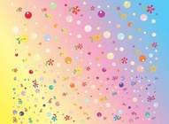 Bubbly Flowers Background