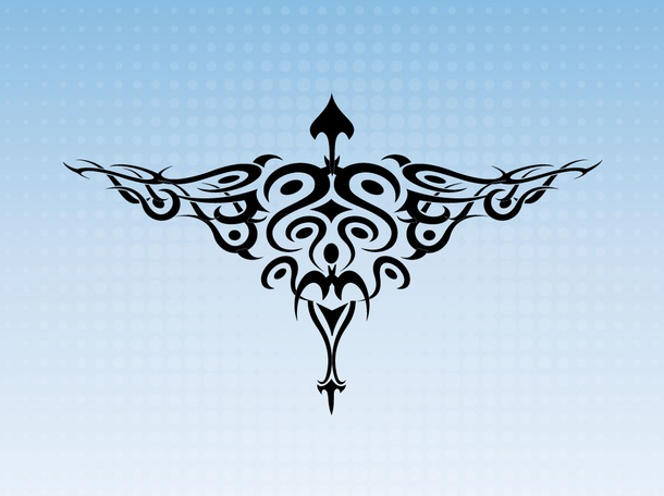 Tribal Bird Tattoo