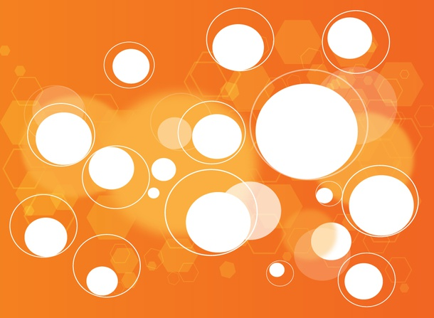 Orange Shapes Background