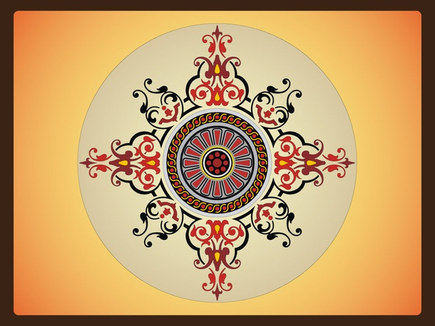 Circle Vector Decorative Design
