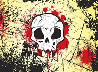 Textured Skull Background