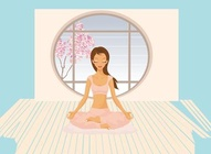 Yoga Girl Cartoon
