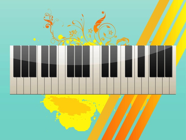 Grunge Keyboard Vector