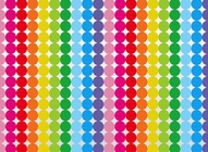 Rainbow Dots Vector