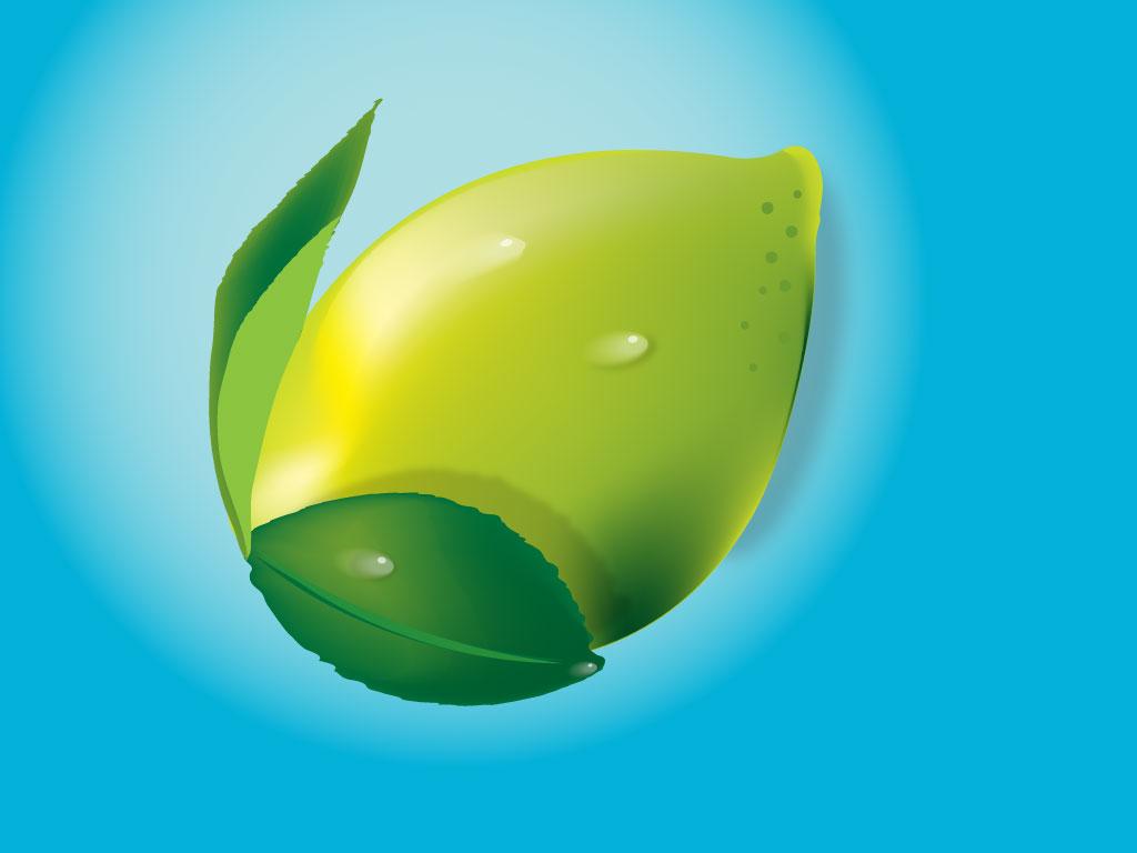 3D Lemon Render