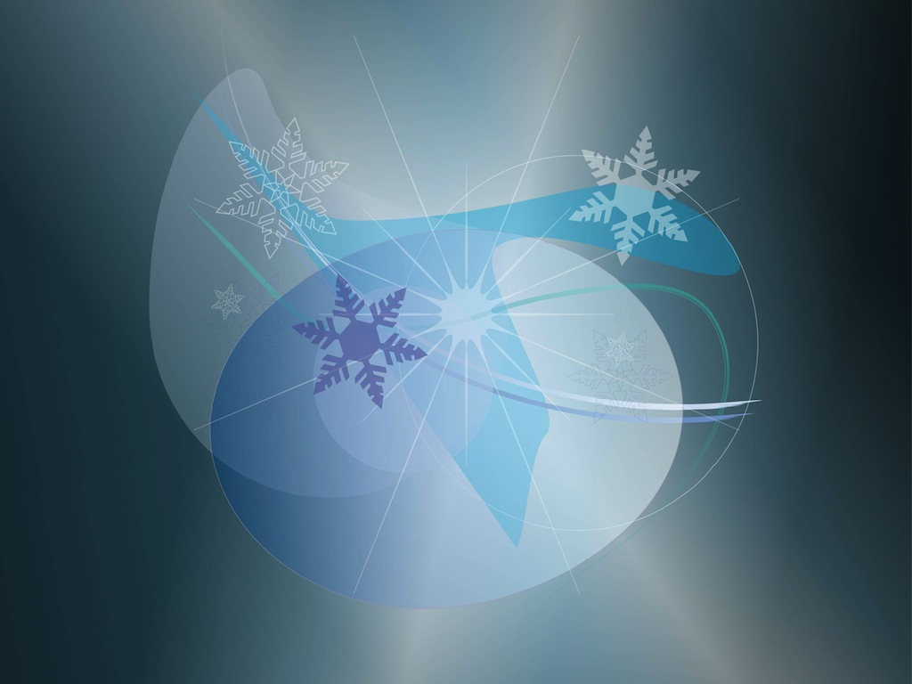 Abstract Snow Graphics