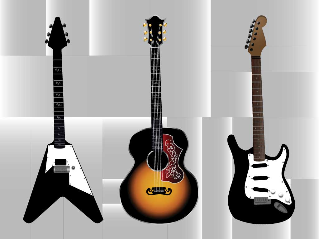 acoustic and electric guitars. Black Bedroom Furniture Sets. Home Design Ideas