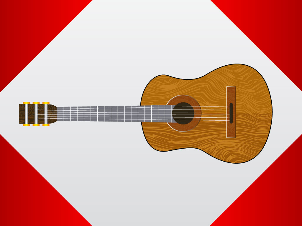 Acoustic Guitar Illustration
