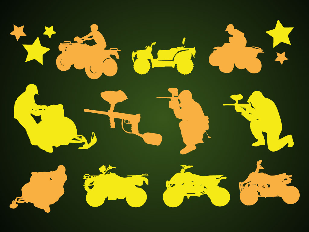 All Terrain Vehicles Silhouettes