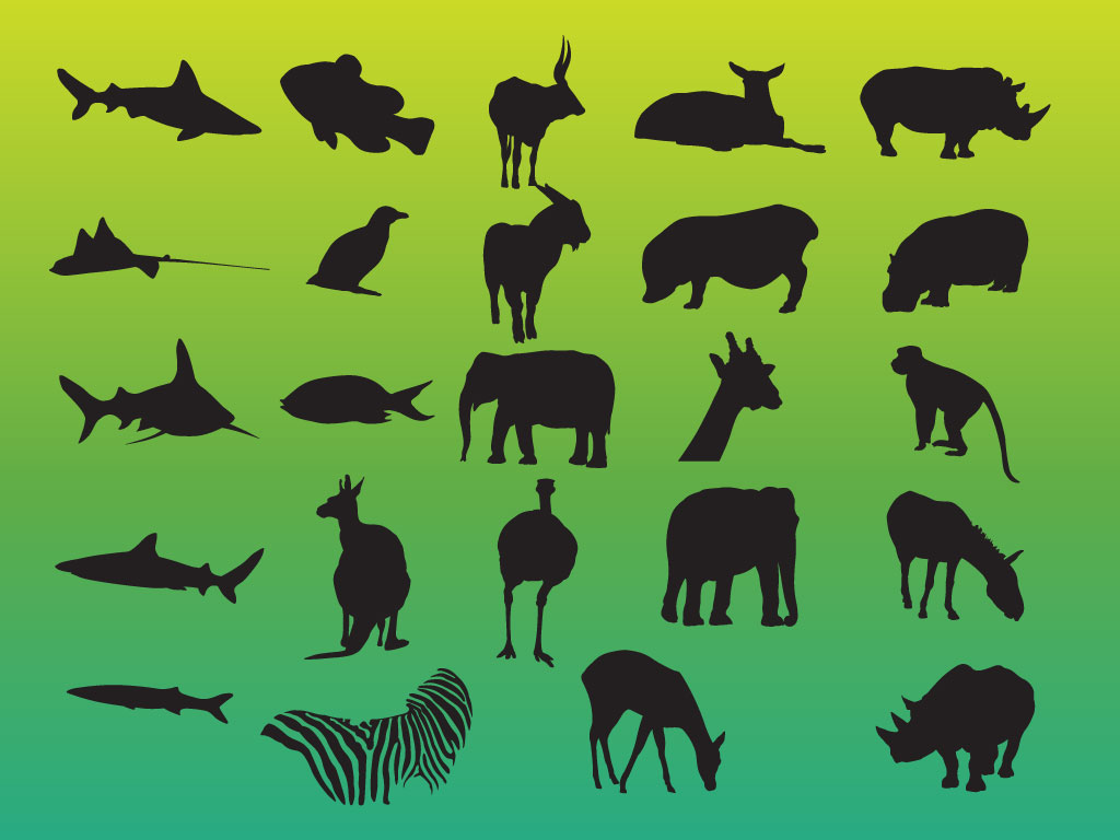 Animals Variety Silhouettes Pack