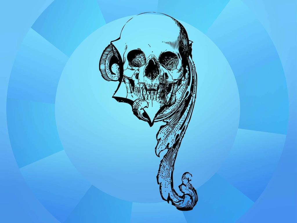 Antique Skull Image