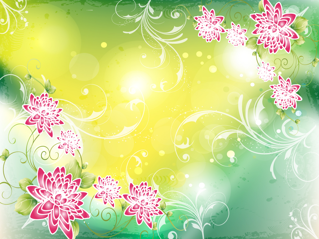 Asian Floral Background