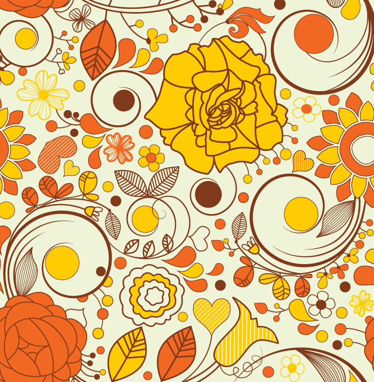 Autumn Flowers Tile