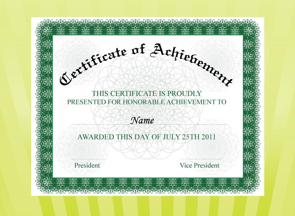 award certificate template publisher