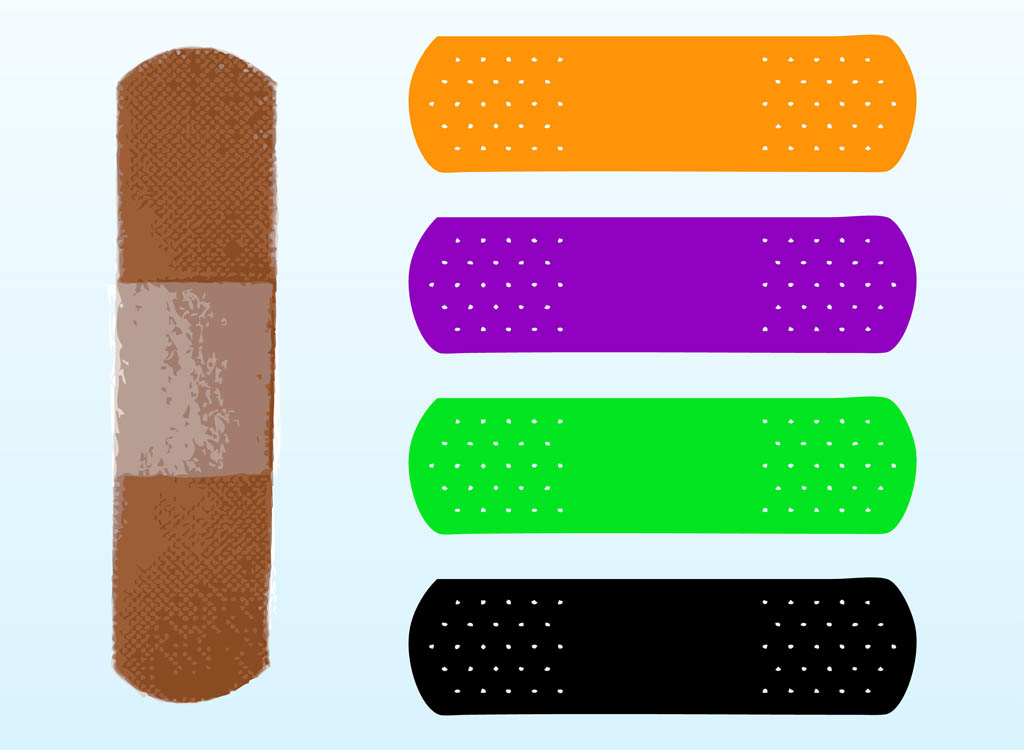 ... band aids standard band aid in skin tone color and fun colorful