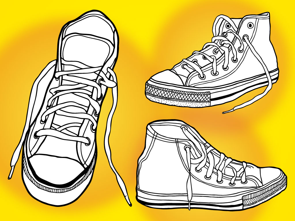 Basketball Shoes Vectors