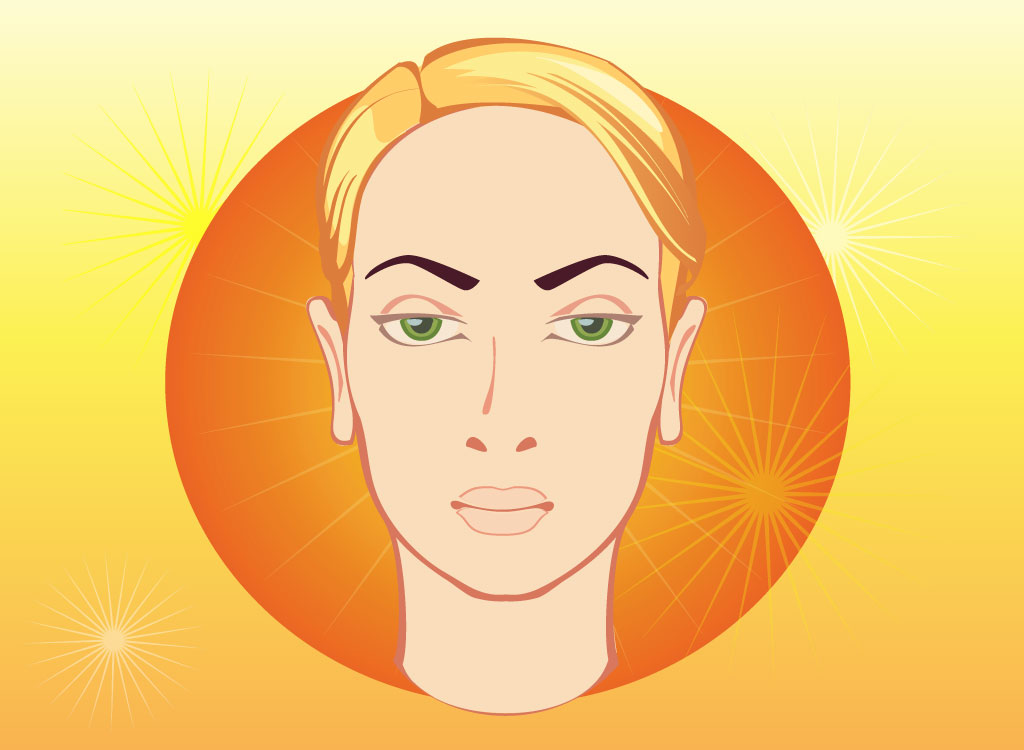 Blonde Woman Vector Head