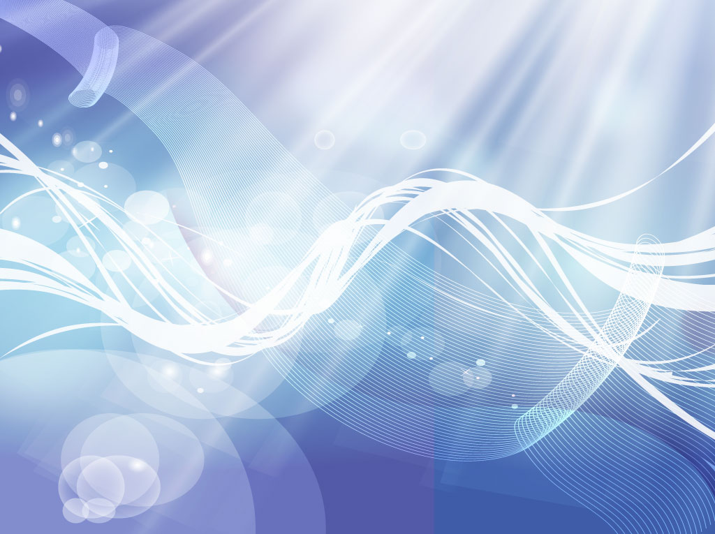 Blue Background Flowing Curves