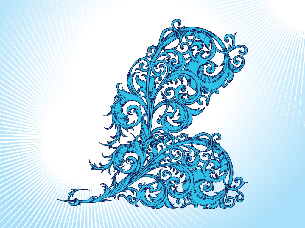 Blue Flourish
