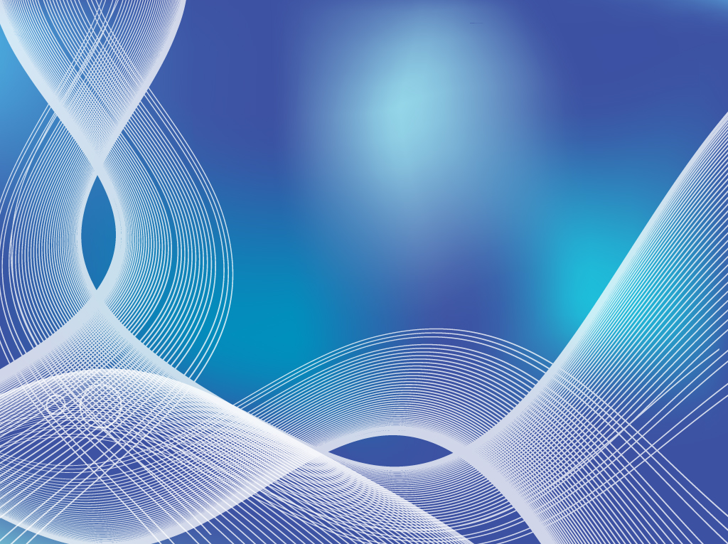 Blue Flowing Waves Background