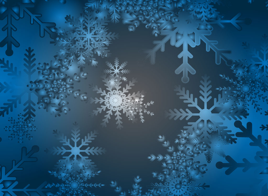 Blue Snow Flake Backdrop