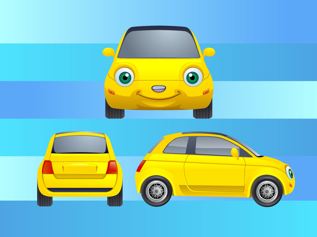cartoon character cars characters vector cartoons clipart yellow super library newdesignfile