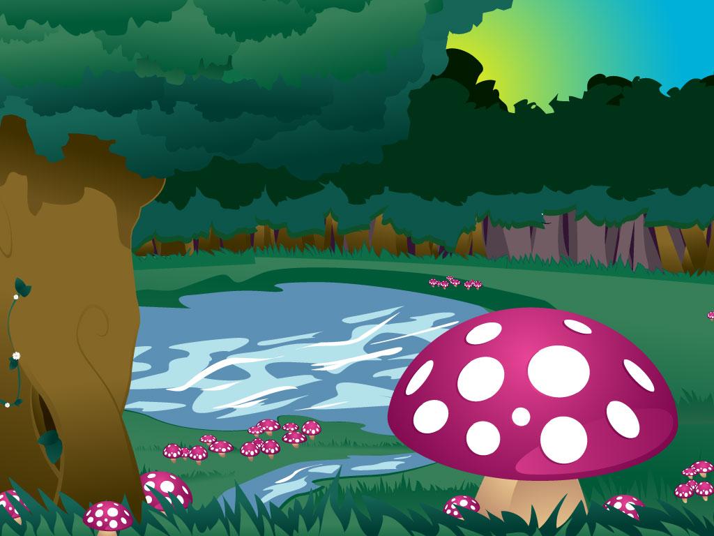 cartoon landscape images