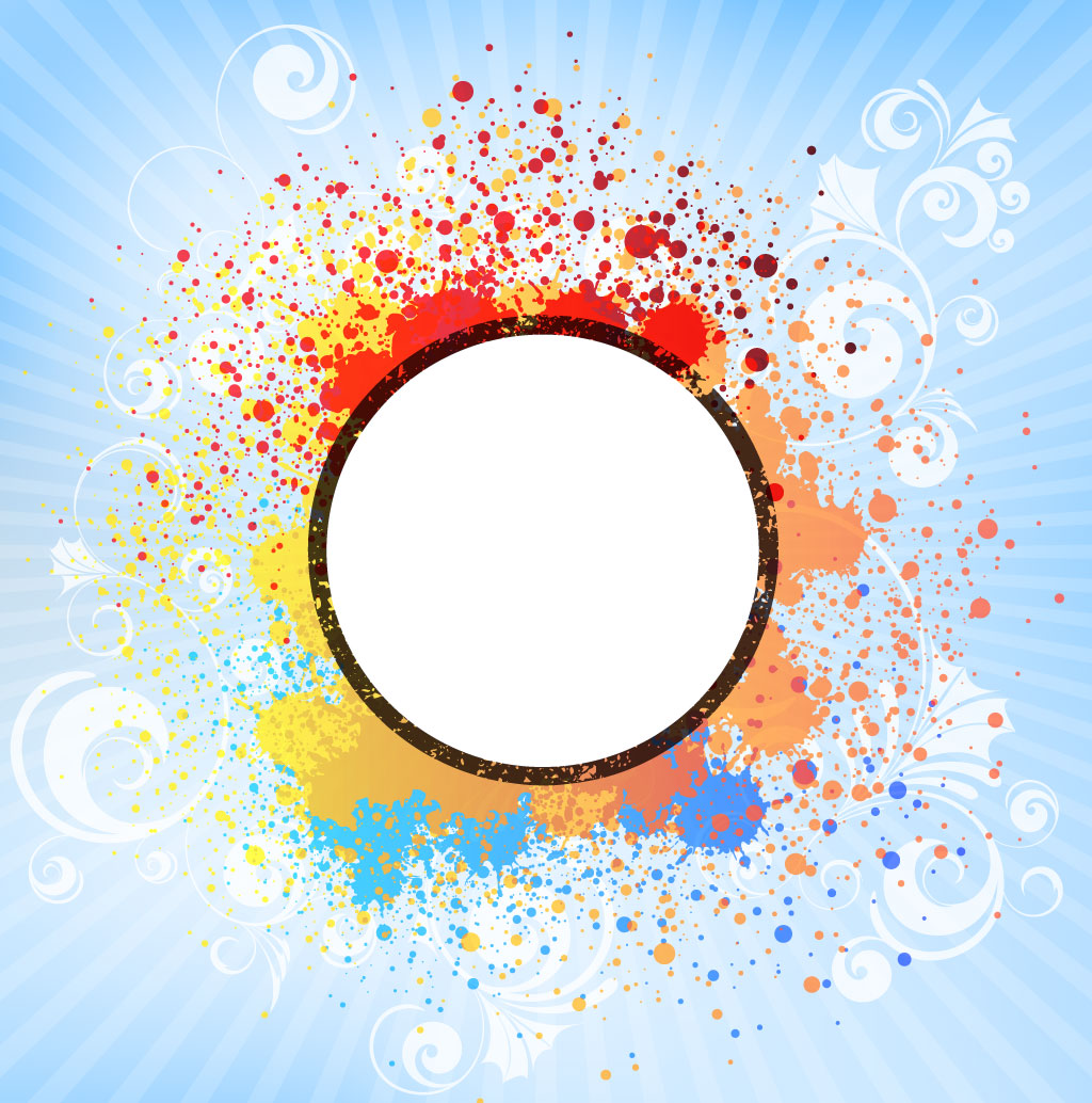 Circle Splash Frame
