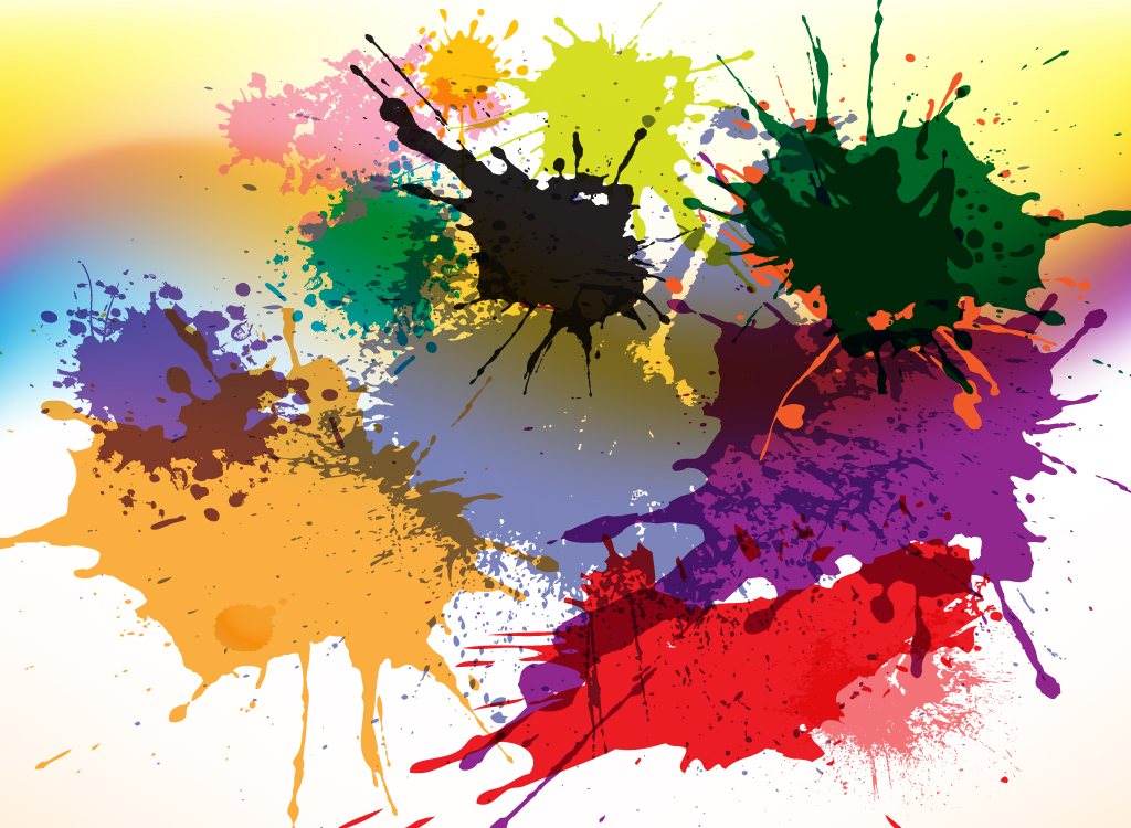 Color Splatter Vector Color Splash Vectors