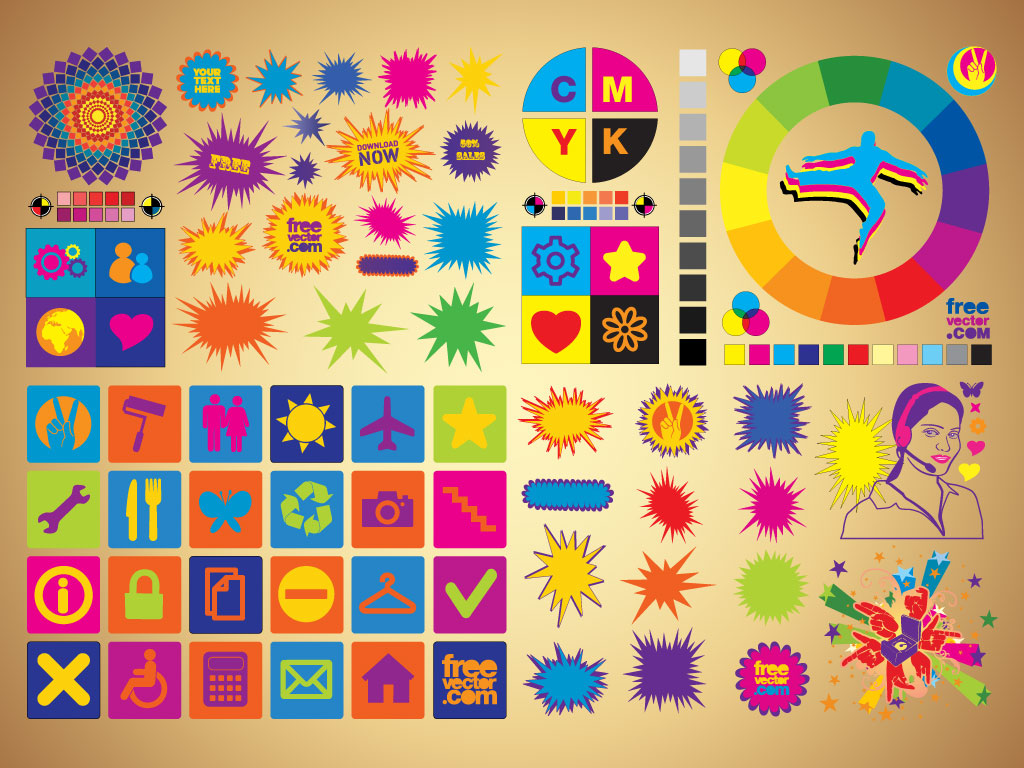 Colorful Clip Art Set