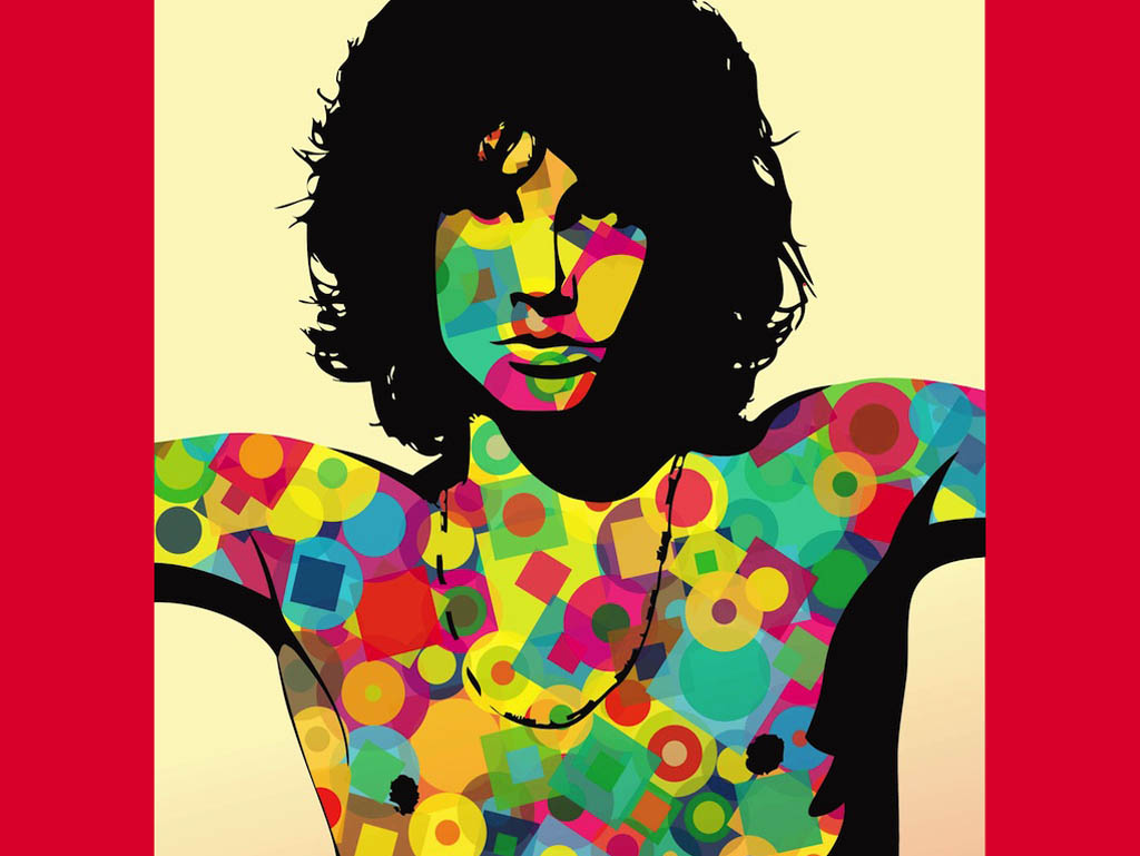 Colorful Jim Morrison